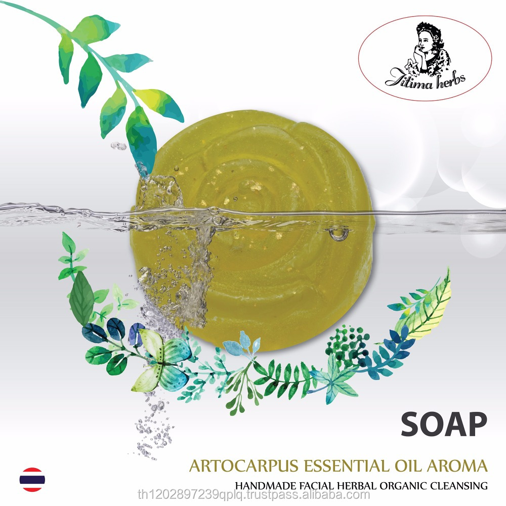 Soap Artocarpus Lacucha Essential oil Aroma Handmade facial Herbal Organic cleansing made in Thailand