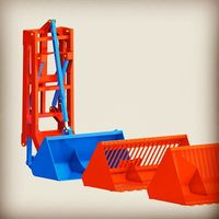 Folding Type Rear Loader For Tractor