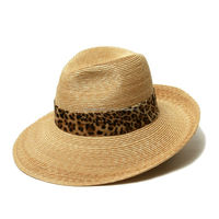 FEDORA STRAW HAT - NATURAL/LEOPARD