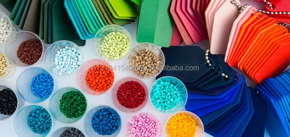 color masterbatch Manufactured with PE , HIPS , NYLON , PC and ABS carrier