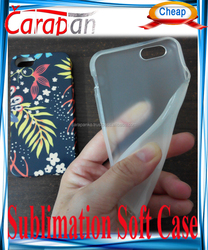 3D Soft Transparent TPU Blank Sublimation Mobile Phone Case for sublimation 3D printing