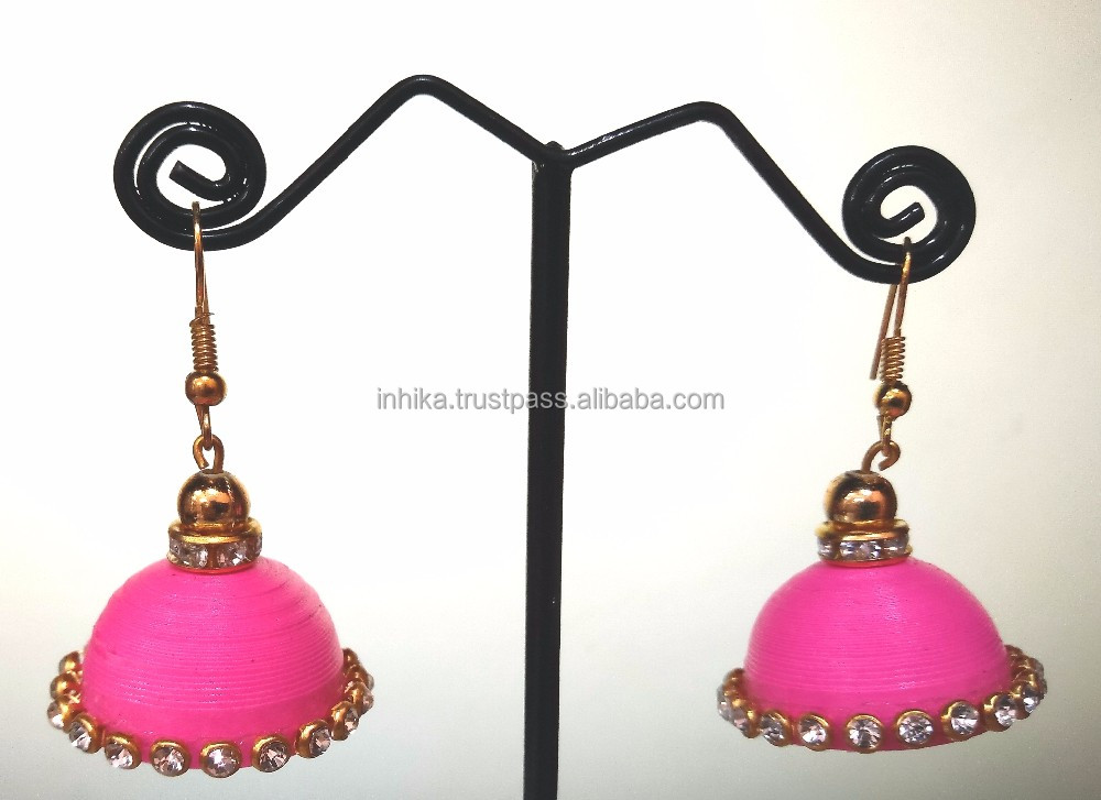 Acrylic earrings for women ladies girl's Fashion handmade jewelry Chandelier tops loops jhumka jhumki for parties