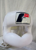 Fighting Boxing Head Gear/ Fighting Headgear Full-Face Size:Large Color:White