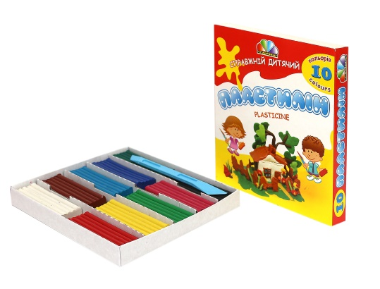 Plasticine, modelling clay 10 color set, clay set, 200 g