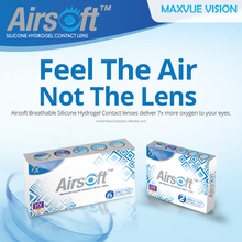 Silicon Hydrogel Maxvue Airsoft Monthly prescription Clear Optical Contact Lenses Ready Stock, safe & Comfort
