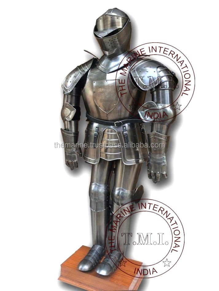 Collectible Medieval Knight Full Suit of Armor w/Display Stand ~ Adult Size & Wearable