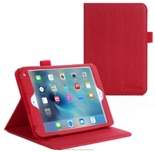 Dual View Slim Fit PU Premium Leather Folio, Smart Cover Auto Sleep/Wake; manicotto interno per iPad Mini 4 roocase (red)