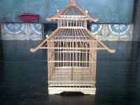 Handmade Bamboo Pet's House, Beautiful Parrot Cages, Bamboo Bird Cages