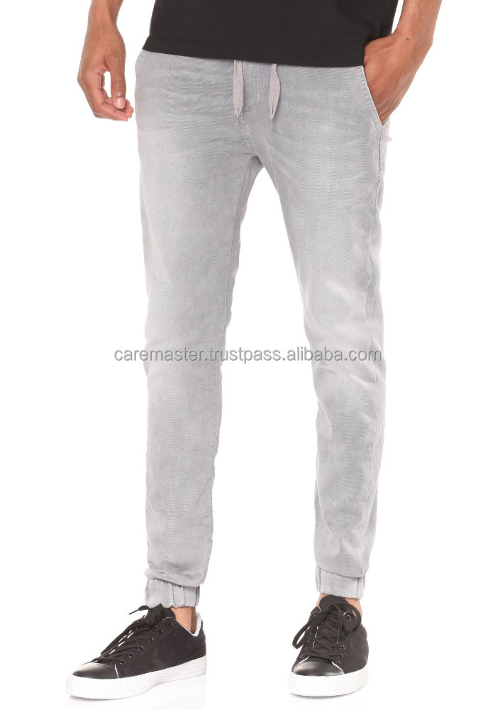 New arrival fashionable light grey cotton trousers