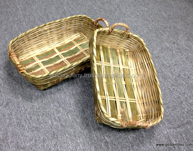 [wholesale] Bamboo baskets for fruit - Natural bamboo handicraft for flower - Laundry basket with eco-friendly,