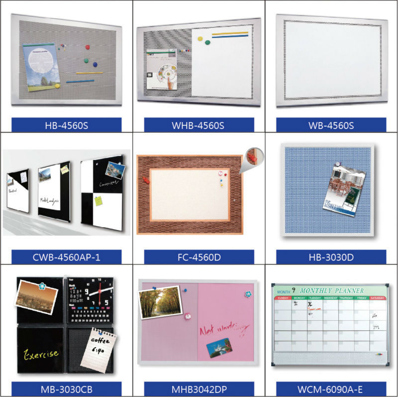 Taiwan diamond mesh and calendar whiteboard for office stationery