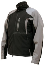 Waterproof Motorbike Soft Shell Jacket with CE Approved Protectors / wholsale custom made softshell jacket