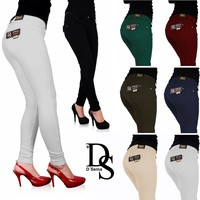 HOT SELL Ladies Fashion Denim Look New Womens Jeggings Sexy Leggings Jeans Women Stretchy Tights Denim Look