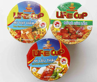 Cup Instant Noodle 60g - Beef, Meaty, Chicken, Hot & Sour Shrimp Flavours