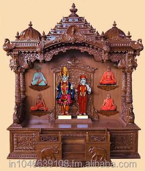 Wooden pooja mandir temple design for home buy wooden - Wall mounted wooden temple design for home ...