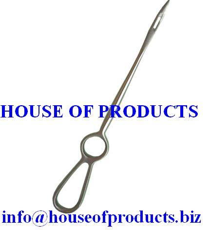 Dr. Buhner Needles Veterinary instruments Stainless steel prolapse needle