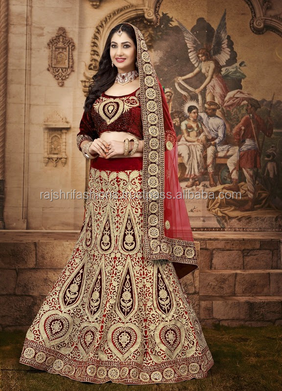 Zari Heavy Work Indian Designer Wedding Bridal Lehenga Style Saree / Saris Embroidered / hand embroidery blouse