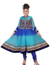 New Kids Blue Anarkali Churidar