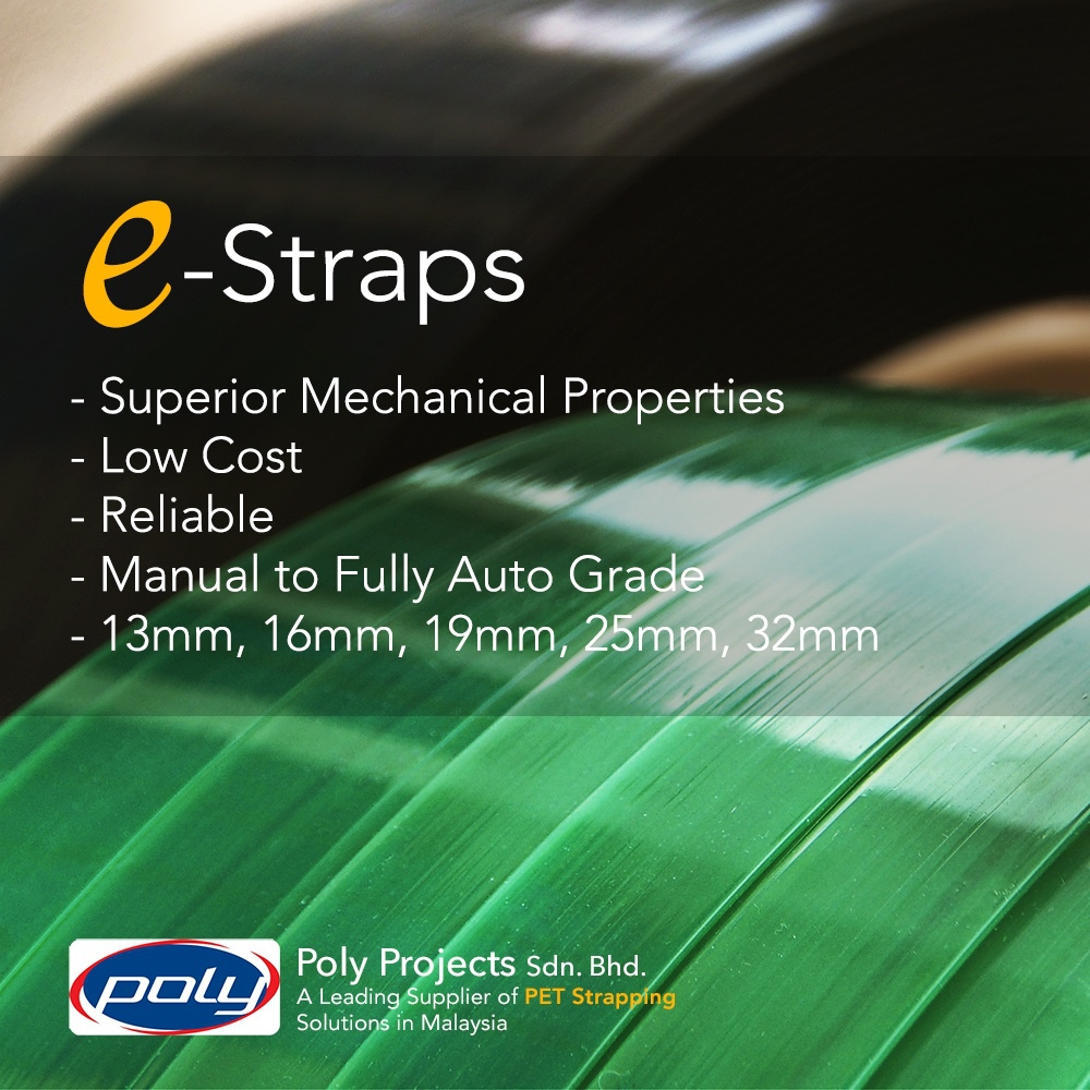 PET Strapping - Wood, construction material, glass, metal, fiber, paper