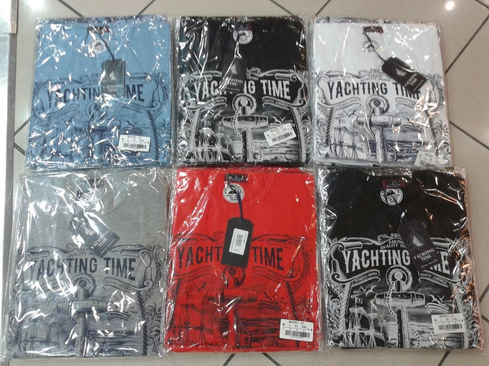 100000 in Stock Cotton t-shirts custom print custom made Yahting time Branded T-Shirts S-3XL