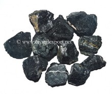 Black Tourmaline Rough Tumbled Stone-Wholesale Rough Tumbled Stone