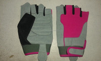 body building gym gloves gray Pink designs