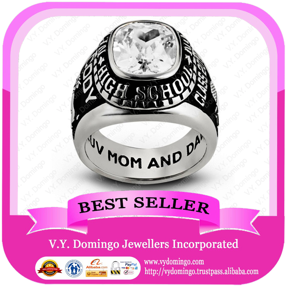 Sterling Silver 925 Custom Made College Ring Wholesale Class Ring