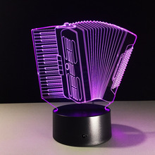 wholesale modern Creative Gifts Accordion Shape Lamp 3D Deco Vision Desk Led USB 7 Colors Changing Baby Sleeping Night Light
