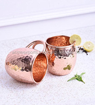 copper Handcrafted moscow Hammered mule mug handmade of 100% pure