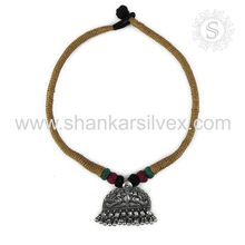 Heart Touching Peacock Design 925 Sterling Silver Necklace Handmade Silver Jewelry Jaipur Wholesale Exporter
