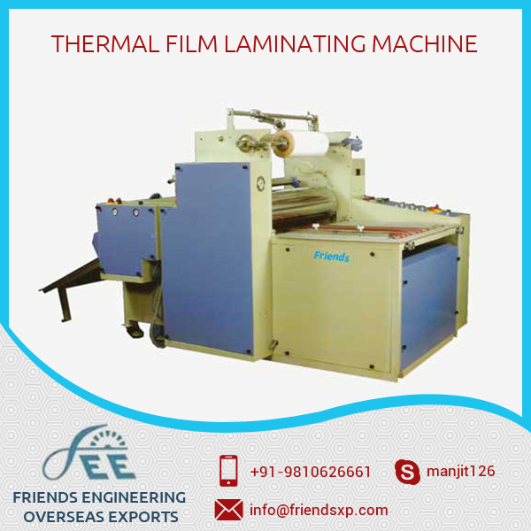 Aluminium Feed Top Print Quality Thermal Film Laminating Machine from Top Dealer