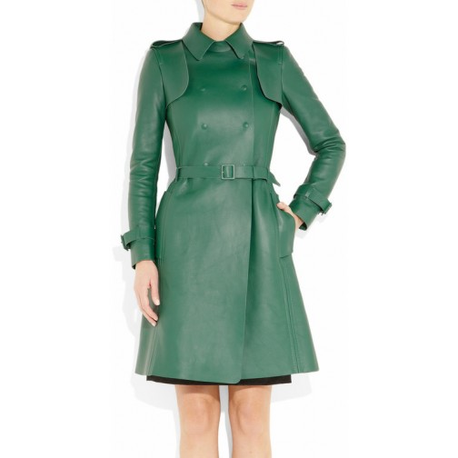 green color for women wear leather dress /leather hot wear/stylish leather women wearing
