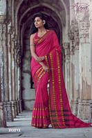 Export high quality cotton saree zari border with unstitched Blouse