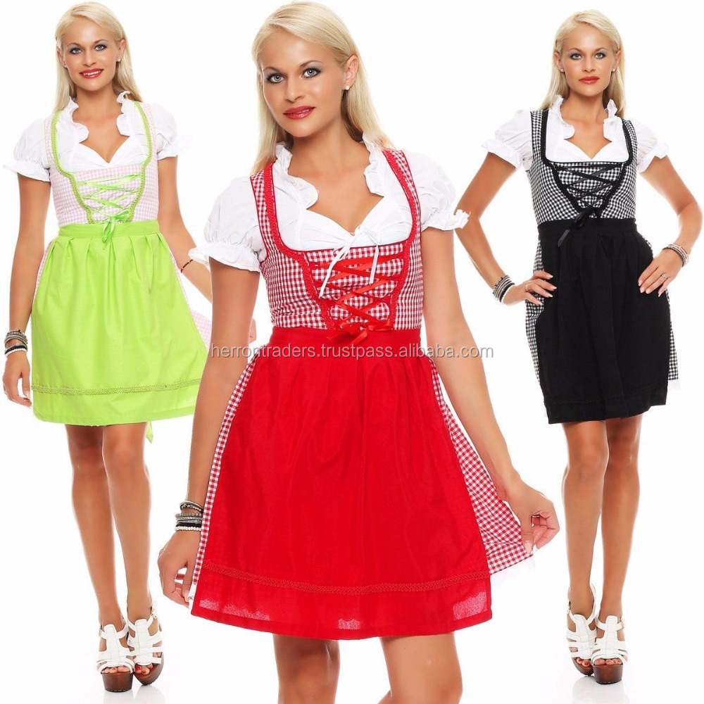 2017 New Style Of Ladies Designers Cotton Dirndl Dresses/Ladies Sexy Dirndl Dress from Pakistan/all dress traditional dirndl