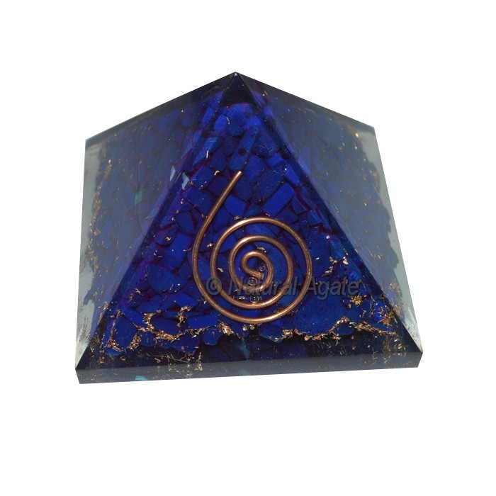 Wholesale Orgone Pyramid : Syntactic Lapis Lazuli Orgone Pyramids - Orgone Pyramid For Sale