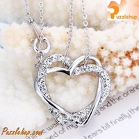 Elegant White Gold Heart Shape Necklace