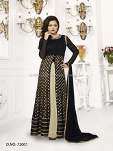 MADHUBALA BLACK GEORGETTE ON NET ANARKALI SUIT