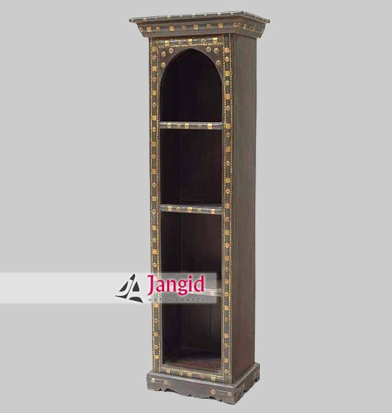 Traditional Living Room Old Wooden Bookshelf