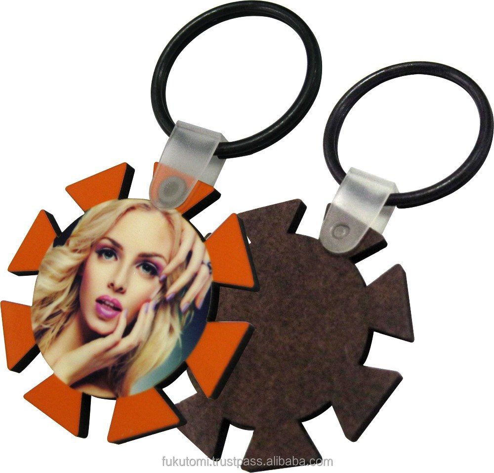 sublimation wooden Key Tag,key ring