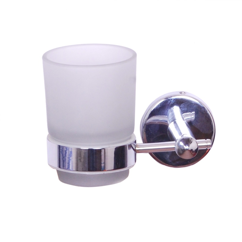 Bathroom Glass Tumbler with Bracket