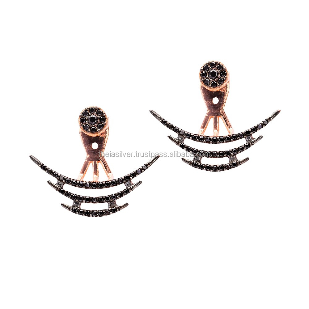 Pair Of Double Sided Earrings, Wholesale Handmade 925 Sterling Turkish jewelry