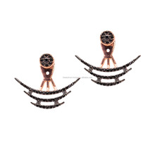 Pair Of Double Sided Earrings Wholesale Handmade 925 Sterling Turkish jewelry