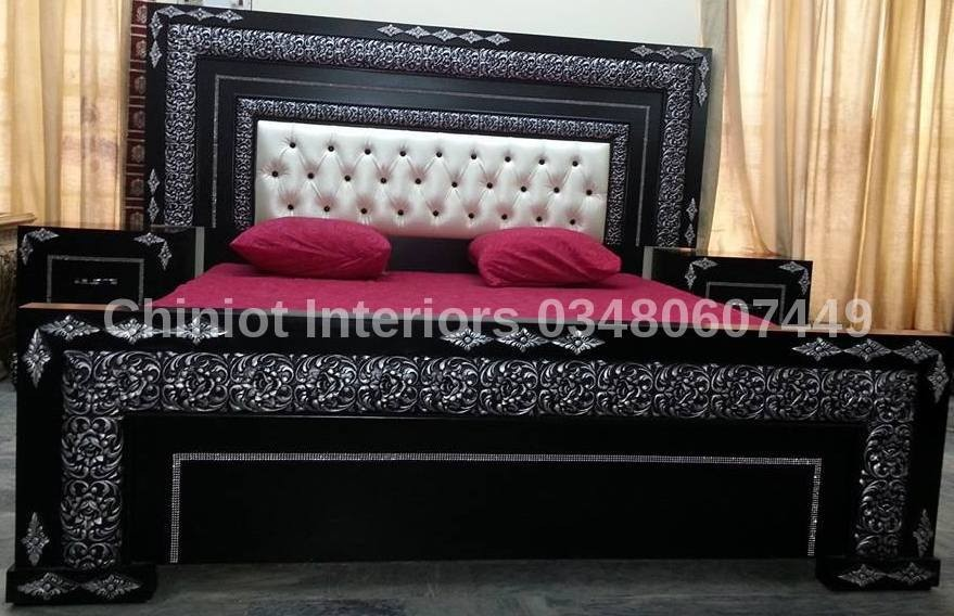 Bedroom Furniture Pakistan royal poshish wooden bed set - buy wooded bed set product on