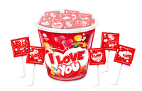 I love YOu Heart Lollipop 12g( 80 pcs)