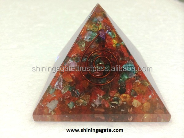 Crystal Quartz 4 Elements Pyramid : Wholesale Pagan Wiccan Sets : 25 to 35mm Pagan Wiccan Set