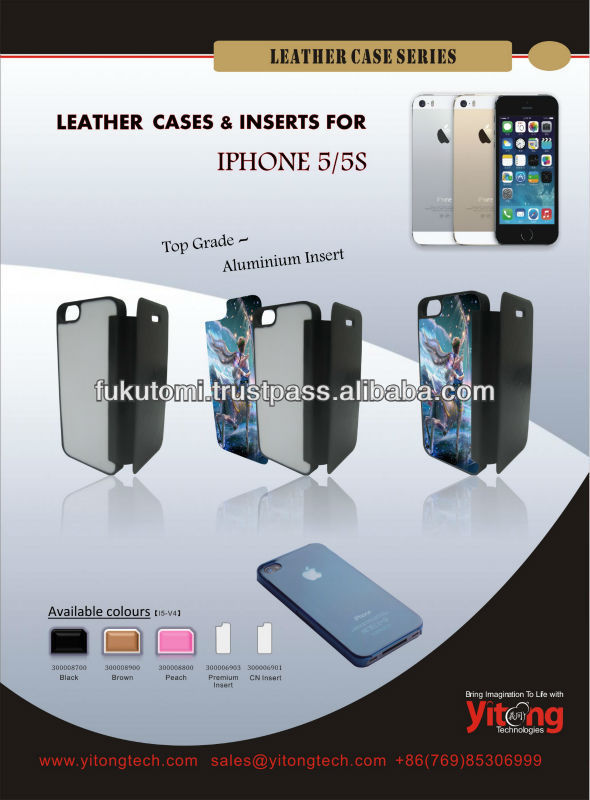 Sublimation blank cellphone case with aluminum insert