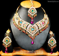 Artificial Sparkly Brilliant Gold Plated F09 Multi Kajal Jewelry