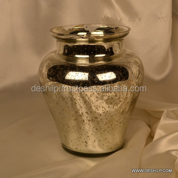 Antique Silver Glass Vase