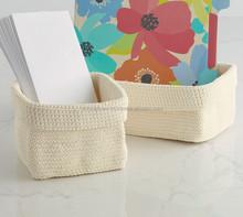 PP yarn crochet baskets