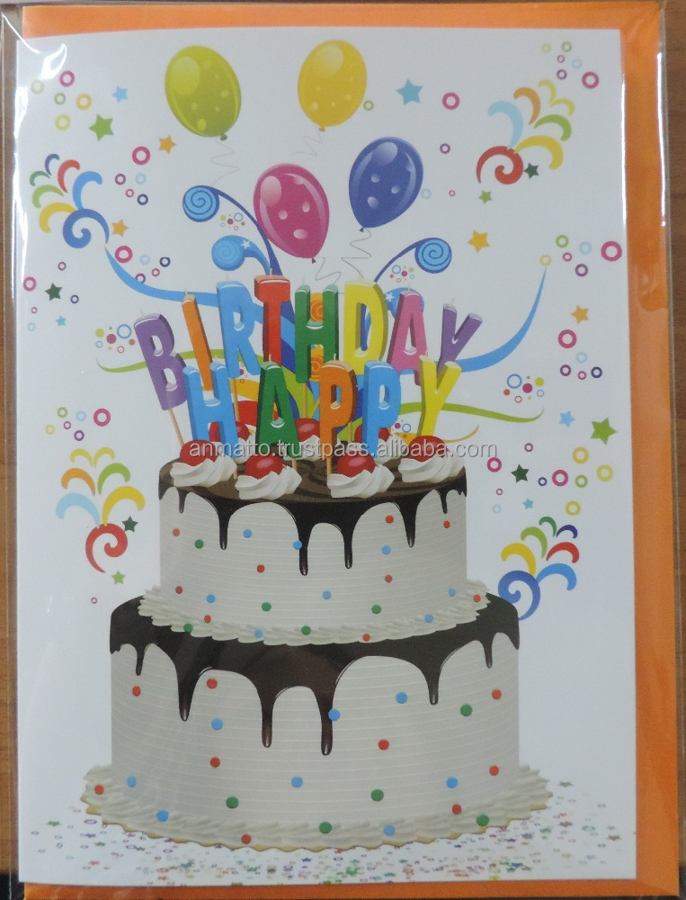 Happy Birthday Greeting Card Wishing You a Happy Day